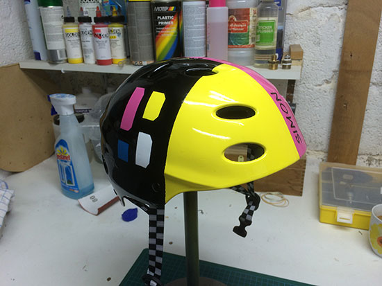 Airbrush Helm Poederbaas Simon 2